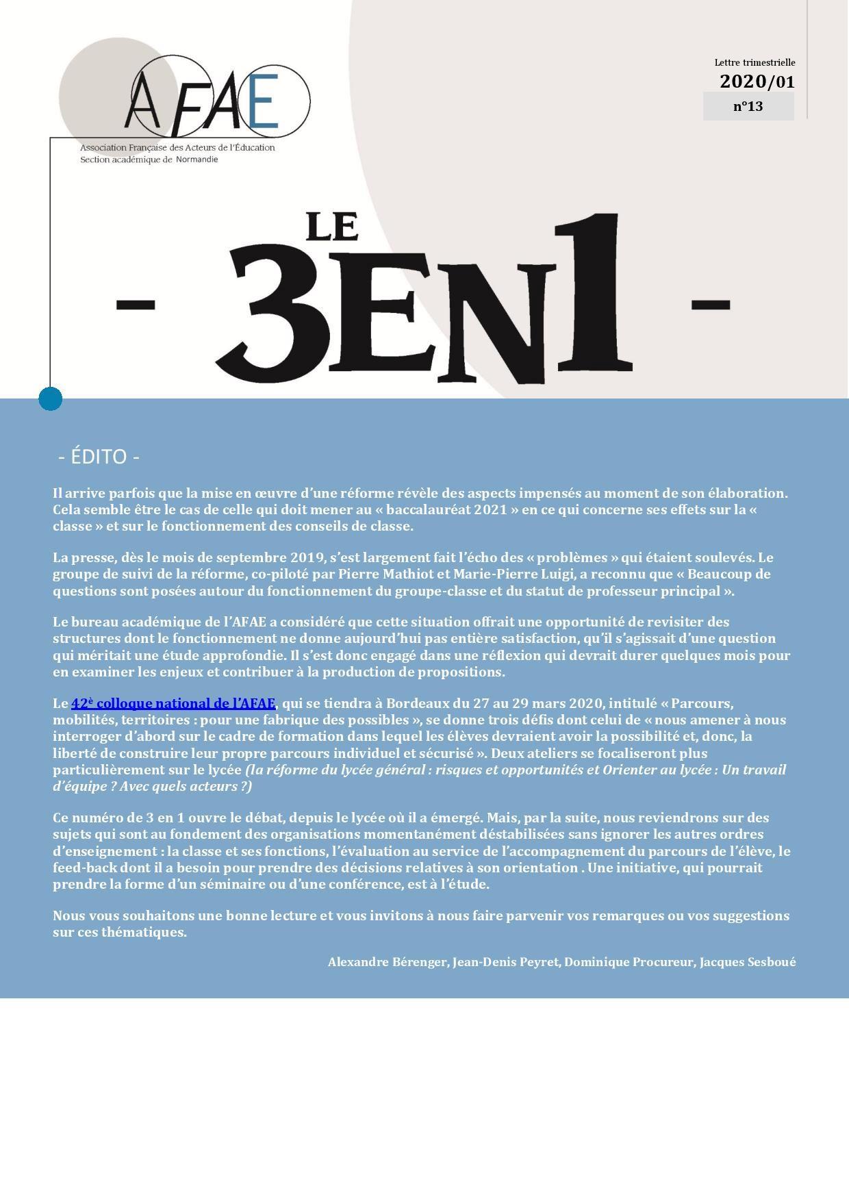 Trois en Un N°13 [Académie de Normandie]