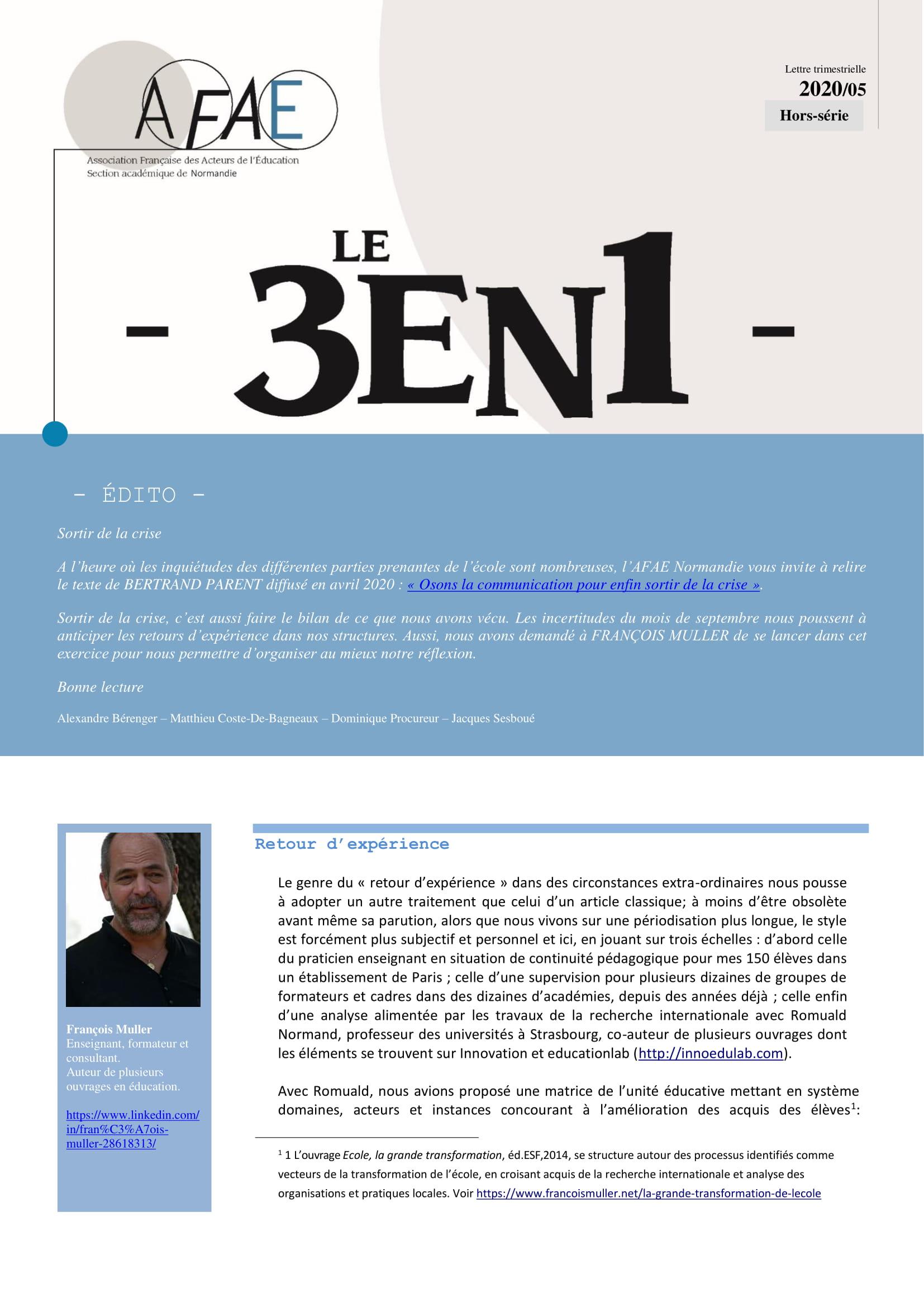 Trois en Un N° 15 [Académie de Normandie]